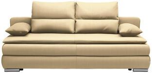 SCHLAFSOFA in Textil Hellbraun  - Hellbraun/Silberfarben, KONVENTIONELL, Kunststoff/Textil (207/94/90cm) - Venda