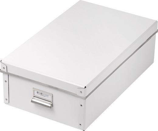 KARTONAGE Karton Weiß - Weiß, Basics, Karton (43,5/14,5/27cm) - Boxxx