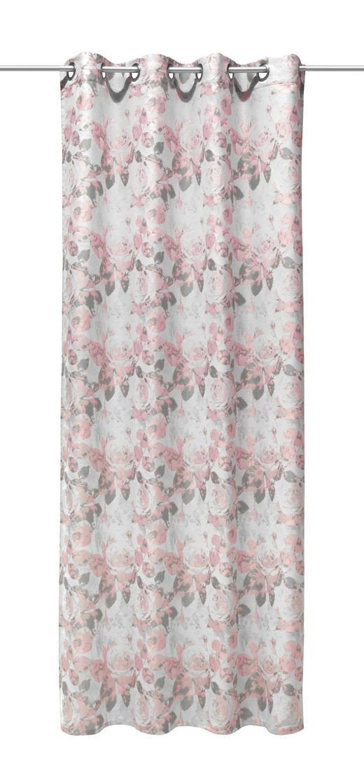 ÖSENSCHAL  Verdunkelung - Hellrosa/Hellgrau, Textil (140/245cm)