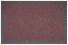 FUßMATTE 40/60 cm Ranken Rot - Rot, Basics, Kunststoff/Textil (40/60cm) - Esposa