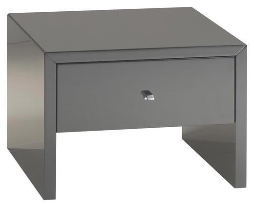 NACHTKÄSTCHEN Hochglanz Schwarz - Chromfarben/Schwarz, Design, Holzwerkstoff (45/33/40cm) - Xora