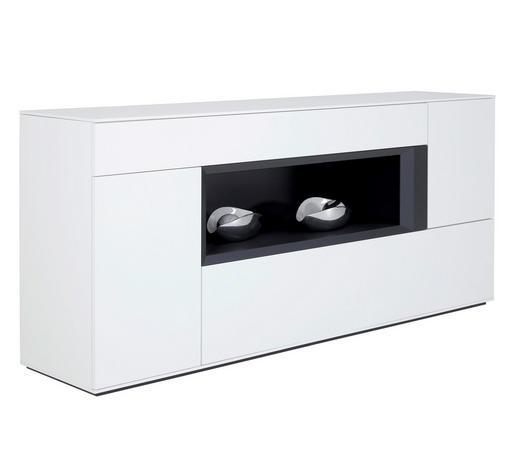 SIDEBOARD 210/93/47 cm  - Anthrazit/Weiß, Design, Holz/Holzwerkstoff (210/93/47cm) - Dieter Knoll