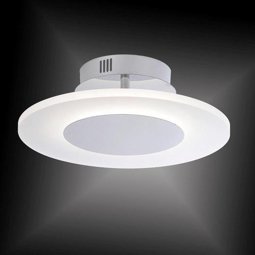 LED-DECKENLEUCHTE - Chromfarben, Design, Metall (35/35/13cm)