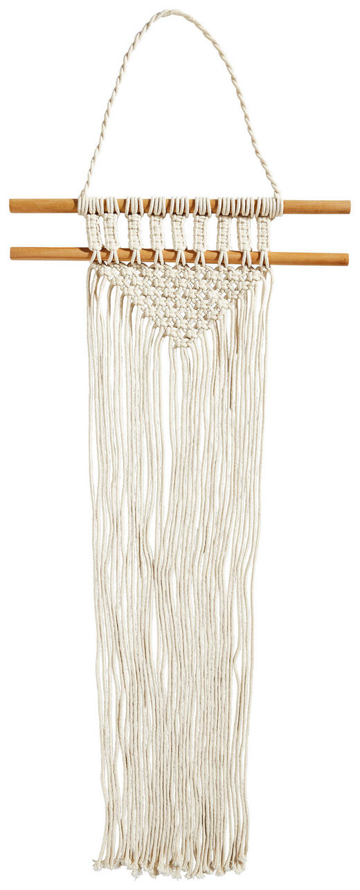 MAKRAMEE-WANDBEHANG Textil - Beige, Basics, Textil (25/74cm)