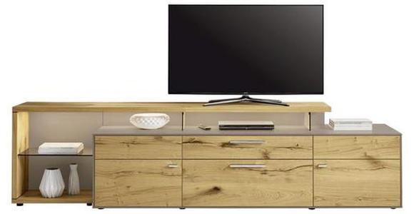 LOWBOARD 294/76,2/55,7 cm  - Chromfarben/Fango, Design, Glas/Holz (294/76,2/55,7cm) - Moderano