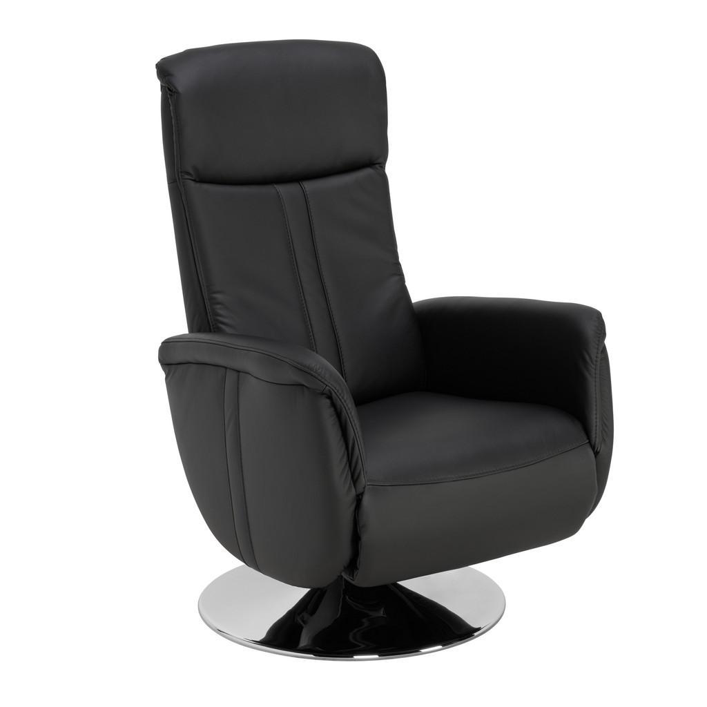 Image of Beldomo Premium Relaxsessel , New Style-L -Exklusiv- , Schwarz , Leder , Echtleder , 71x108x83 cm , pigmentiert , Fussart wählbar, Lederauswahl, Stoffauswahl, Relaxfunktion , 002507018803