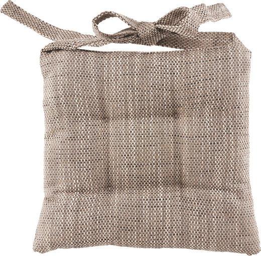 SITZKISSEN Braun 47/43/8 cm - Braun, Basics, Textil (47/43/8cm) - NOVEL