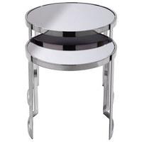 SET STOLIĆA - crna, Design, staklo/drvni materijal (45,7/40,6/45,7/40,6cm) - Xora