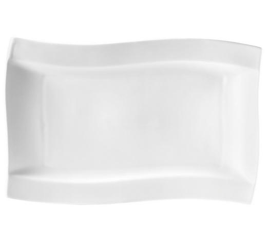 SPEISETELLER Keramik Porzellan  - Weiß, KONVENTIONELL, Keramik (22/33cm) - Novel
