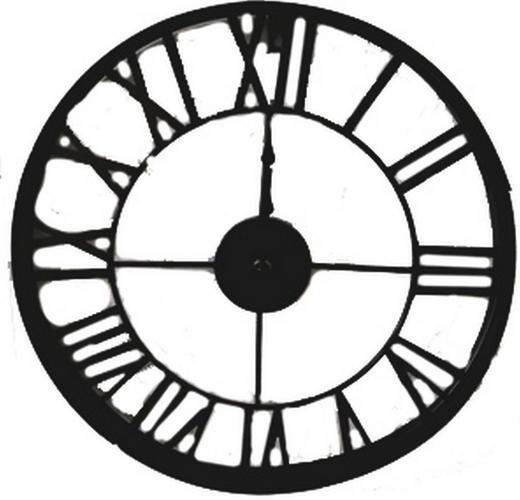 WANDUHR  Schwarz 40 cm - Schwarz, Basics, Metall (40  cm) - Ambia Home