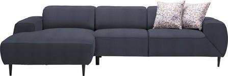 WOHNLANDSCHAFT in Textil Blau  - Blau/Multicolor, Design, Textil/Metall (170/292cm) - Dieter Knoll