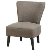 FOTELJ,  rjava tekstil - črna/rjava, Design, tekstil (60/80/72cm) - Carryhome