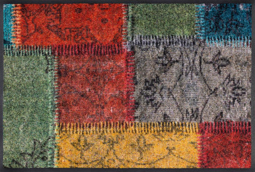 FUßMATTE 50/75 cm Patchwork Multicolor - Multicolor, Basics, Kunststoff/Textil (50/75cm) - Esposa