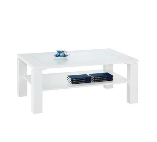 KLUB STOLIĆ bijela  staklo, drvni materijal  - bijela, Konvencionalno, staklo/drvni materijal (100/42/65cm) - Xora