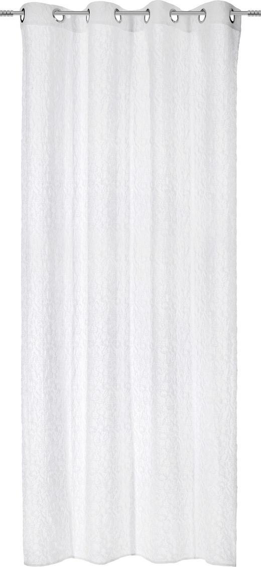 ÖSENSCHAL  transparent  140/245 cm - Weiß, Design, Textil (140/245cm) - Esposa