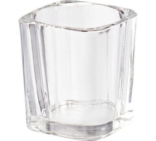 SVÍCEN NA ČAJOVOU SVÍČKU - čiré, Basics, sklo (0cm)