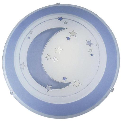KINDERDECKENLEUCHTE - Blau/Weiß, Basics, Glas/Metall (39,5cm) - Ben'n'jen