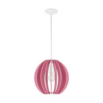 OTROŠKA VISEČA SVETILKA - roza, Konvencionalno, kovina/les (30/110cm)