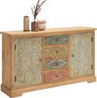 KOMMODE - Hellbraun/Hellgrau, Trend, Holz/Holzwerkstoff (145/85/40cm) - Ambia Home