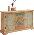 KOMMODE - Hellbraun/Multicolor, Trend, Holz/Holzwerkstoff (145/85/40cm) - Ambia Home