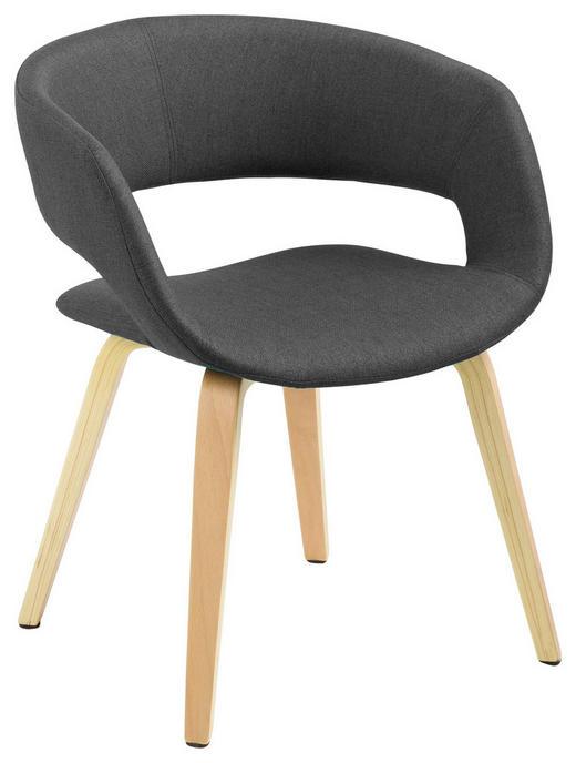 STUHL Webstoff Dunkelgrau - Dunkelgrau, Design, Holz/Textil (56/75/52cm) - Carryhome