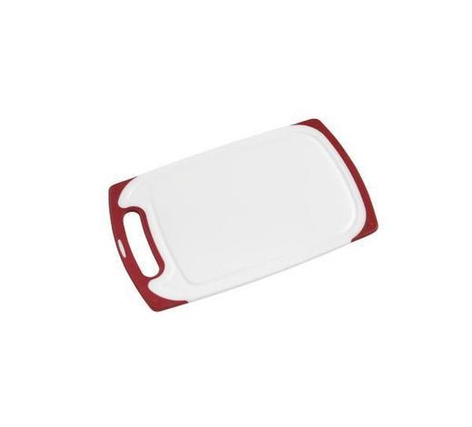 SCHNEIDEBRETT - Rot/Weiß, Basics, Kunststoff (32,7/20/1cm) - Homeware