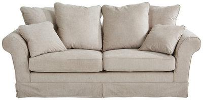 Livetastic Dreisitzer-sofa flachgewebe beige