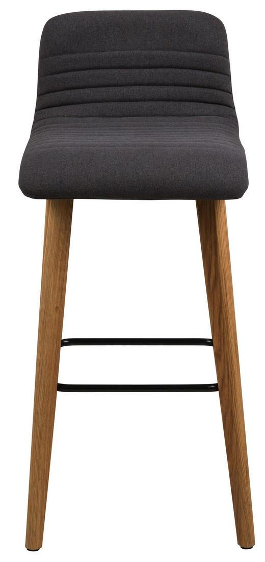 BARHOCKER in Anthrazit, Eichefarben - Eichefarben/Anthrazit, Design, Holz/Textil (44/101/47cm) - Carryhome
