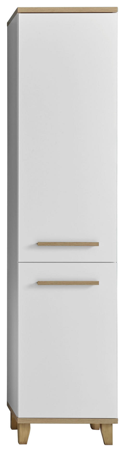 HOCHSCHRANK Weiß - Eichefarben/Weiß, Design, Holzwerkstoff/Kunststoff (45/198/30cm) - Xora