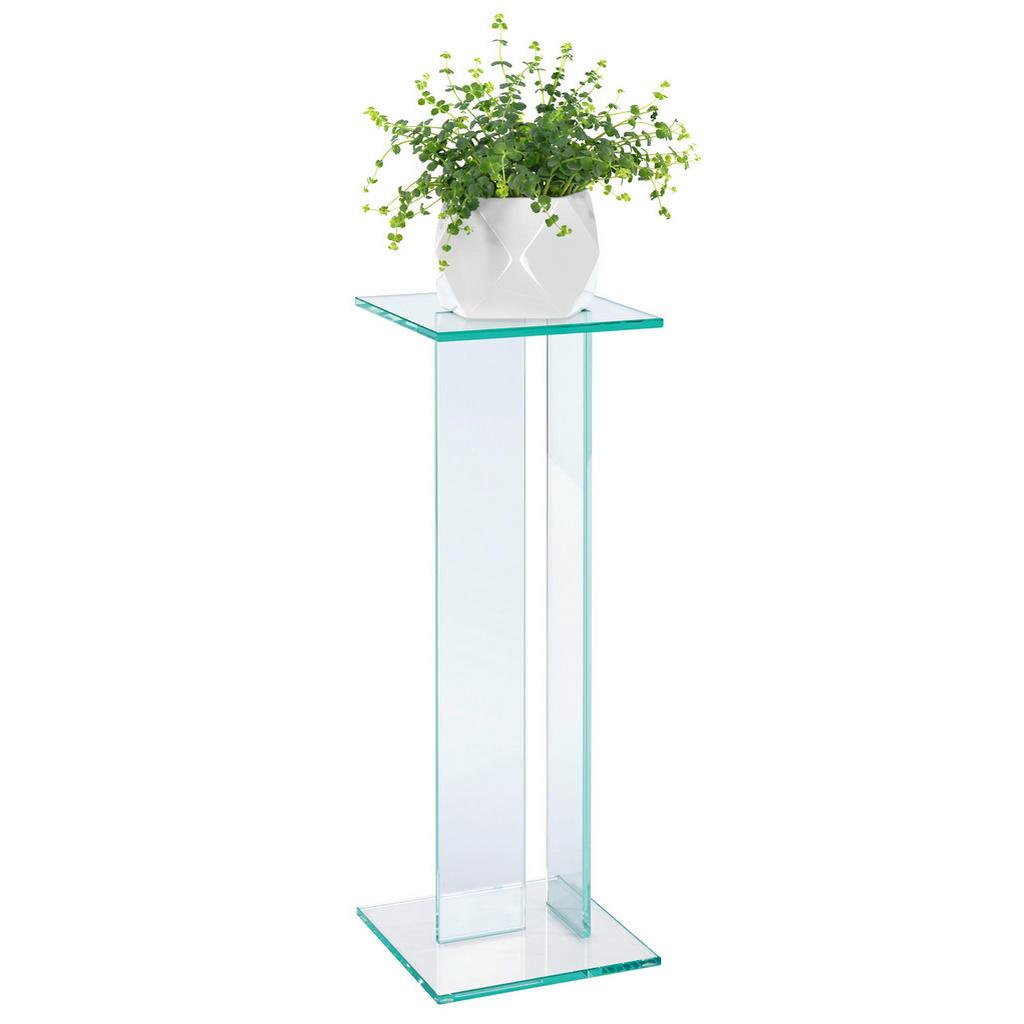 Image of XXXLutz Blumensäule in glas 25/25/71 cm , Viola , 25x71x25 cm , transparent , 002757000302