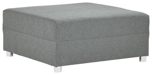 HOCKER Webstoff Hellgrau - Hellgrau/Alufarben, Design, Kunststoff/Textil (93/42/93cm) - Carryhome