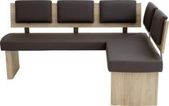 ECKBANK 180/140 cm  in Braun, Eichefarben  - Eichefarben/Braun, Natur, Holzwerkstoff/Textil (180/140cm) - Cantus
