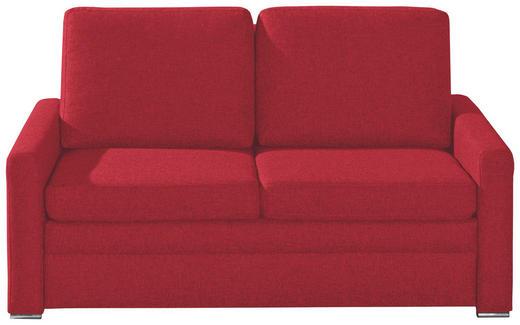 SCHLAFSOFA Rot - Chromfarben/Rot, KONVENTIONELL, Textil/Metall (153/83/90cm) - NOVEL