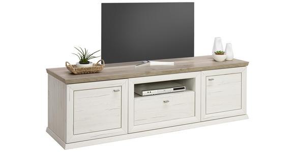 LOWBOARD 180/56/50 cm  - Weiß/Grau, LIFESTYLE, Holzwerkstoff/Metall (180/56/50cm) - Hom`in