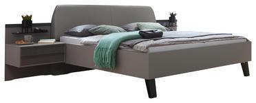 BETTANLAGE - Braun/Grau, Design, Glas/Textil (180/200cm) - Dieter Knoll