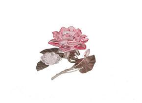 LJUSSTAKE - silver/rosa, Lifestyle, metall/glas (19/11/14cm) - Ambia Home