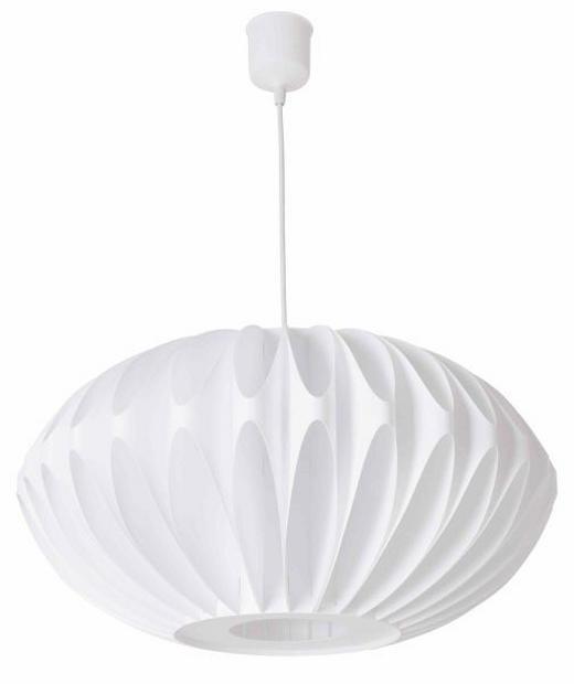 HÄNGELEUCHTE - Weiß, LIFESTYLE, Kunststoff (50cm)