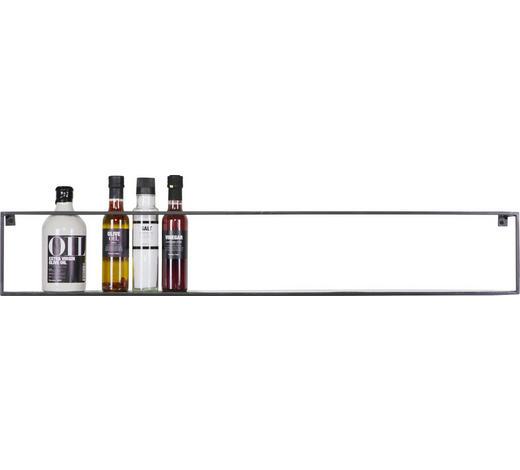 REGÁL NÁSTĚNNÝ - černá, Trend, kov (100/16/8cm) - Ambia Home