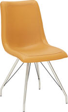 STOLICA - boje oplemenjenog čelika/žuta, Design, metal/tekstil (49/90/61cm) - NOVEL