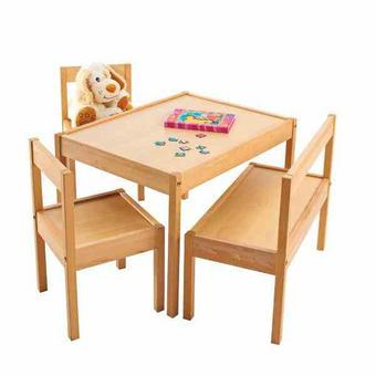 Kindersitzgruppe - Naturfarben, KONVENTIONELL, Holz (12kg) - My Baby Lou
