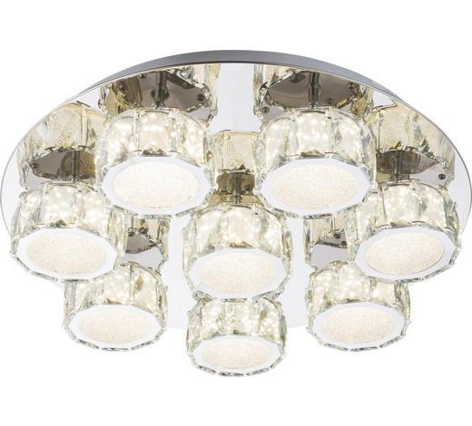 LED-DECKENLEUCHTE   - Chromfarben, Design, Glas/Metall (50/11cm)