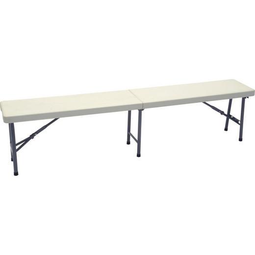 SITZBANK Weiß - Alufarben/Weiß, Trend, Kunststoff/Metall (183/30/43cm)
