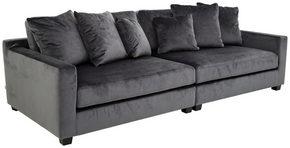 3-SITS SOFFA - svart/grå, Design, metall/trä (268/84/112cm) - Welnova