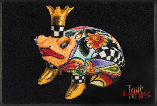 FUßMATTE 50/75 cm Tier Multicolor, Schwarz - Multicolor/Schwarz, Basics, Kunststoff/Textil (50/75cm) - Esposa