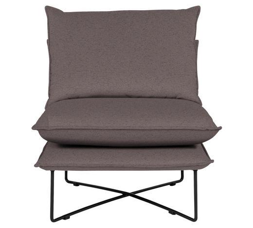 SESSEL in Textil Braun - Schwarz/Braun, Design, Textil/Metall (72/84/90cm) - Hom`in