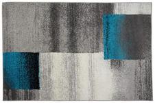Webteppich Florence 160x230 cm - Beige/Petrol, KONVENTIONELL, Textil (160/230cm) - Ombra