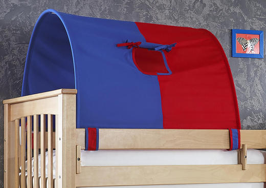 TUNNELSET Blau, Rot - Blau/Rot, Design, Textil