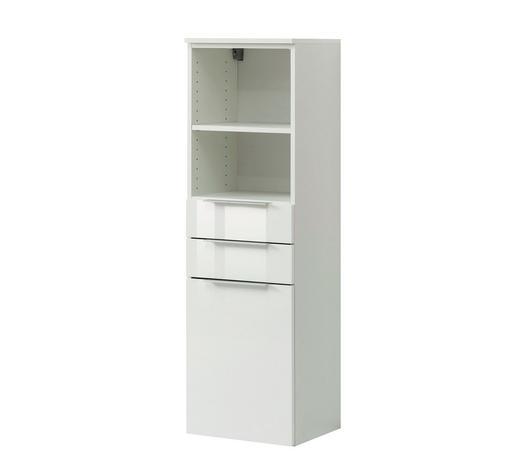 MIDISCHRANK Weiß  - Silberfarben/Alufarben, Design, Holzwerkstoff/Kunststoff (40/117/35cm) - Xora