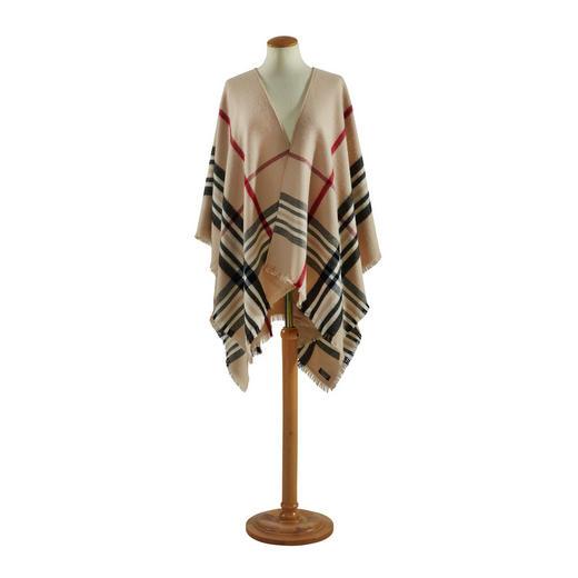 PLAID Beige, Schwarz - Beige/Schwarz, LIFESTYLE, Textil (130/200cm) - Ambiente