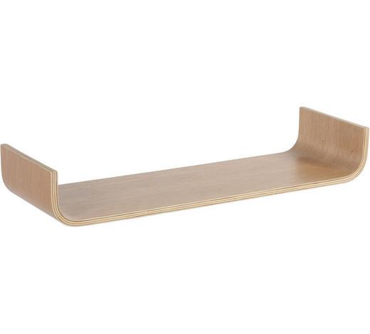 WANDBOARD Birke, Eiche furniert, Schichtholz Eichefarben  - Eichefarben, Design, Holz (80/12/25cm) - Carryhome